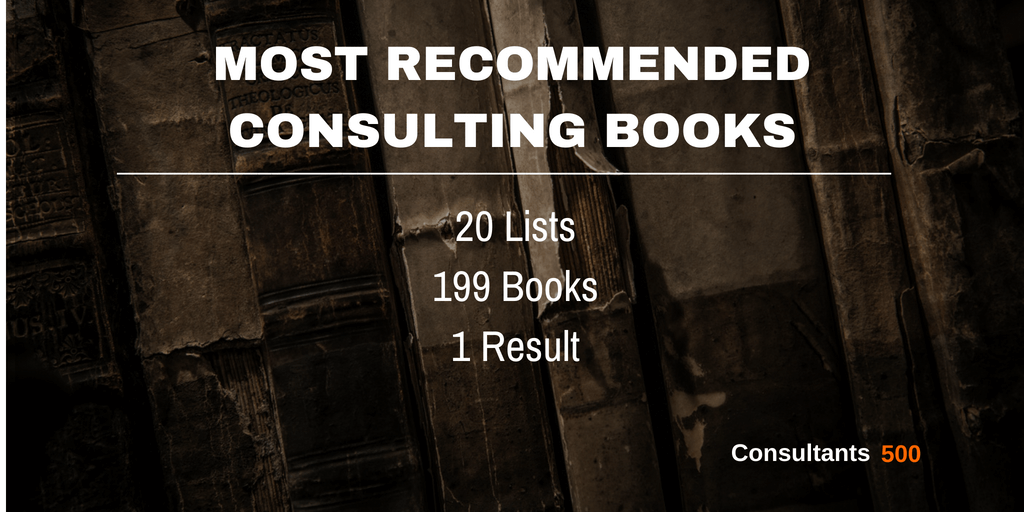 Top 20 Of Best Consulting Books Recommended Most Times