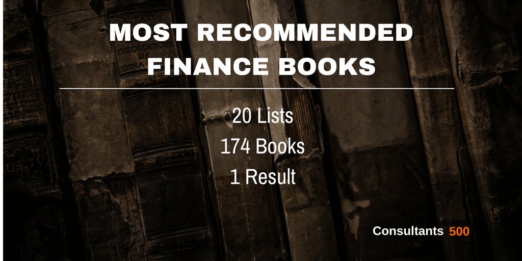 Top 20 of Best Finance Books Recommended Most Times by